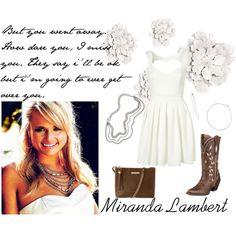 """Miranda Lambert - Over you"" by alyssa-eatinger on Polyvore"