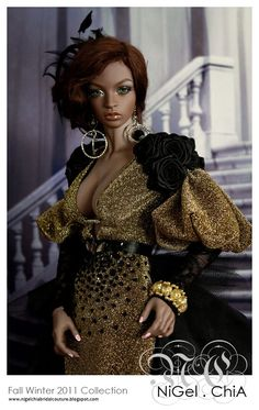 ChiA a fashion design victim: NiGel.ChiA Fall Winter 2011 Collection- Je t'aime Fashion Royalty Dolls, Fashion Dolls, Diva Dolls, African American Dolls, Poppy Parker, Beautiful Barbie Dolls, Living Dolls, Little Doll, Barbie Collection
