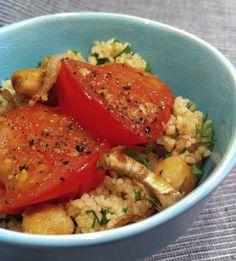 Couscous-Kichererbsen-Salat mit Ofentomaten