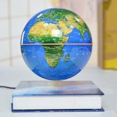 Fdit Desktop Rotating World Globe Earth Globe con Supporto per Bambini e Adulti Blue