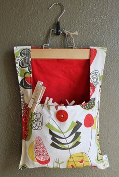 Clothes Pin Bag by OnceAgainHandmade on Etsy, $20.00