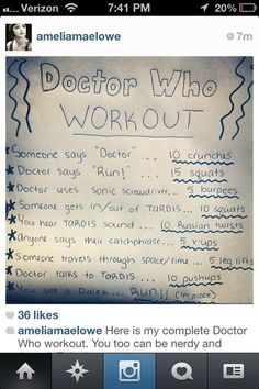 doctor who workout!!