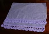 59 Free Crochet Patterns for Edgings, Trims, and Blanket Borders: 8. Crochet Lace Towel Edging