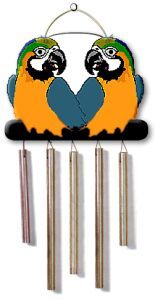 Parrot wind chimes