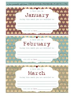 Delightful Order: Free Printable Valentines Day Coupon Book