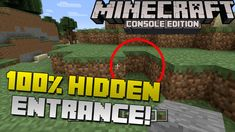 Minecraft: How to Make a 100% Hidden Secret Base Entrance! [Xbox & Plays...