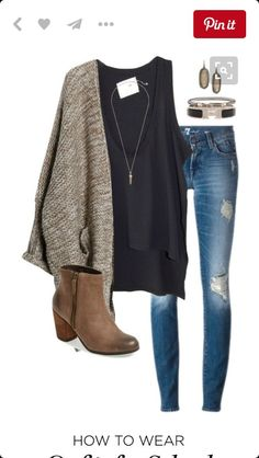 Fall Outfit // Booties // Cardigan // Skinny Jeans