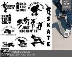skateboarder svg / skate svg / skateboarding svg / skater svg / svg files / svg for cricut / svg for silhouette / skateboarder / skater