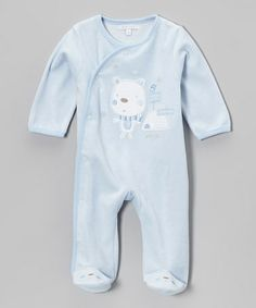 Take a look at this Blue Puppy Footie - Infant by Zip Zap on #zulily today!
