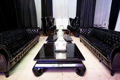 black lounge furniture