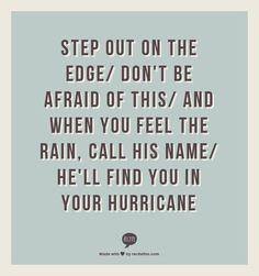 Hurricane, Natalie Grant Lyrics