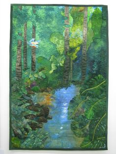 """Paradise"". A quilter whose mission is to make people extra aware of the beauty of the natural environment."