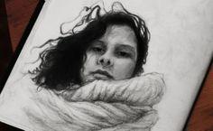 Portrait - Self-Portrait - Laureline Paris Sketch 2014