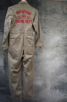 40s Aviation Coveralls WW2 Era Americana Work wear by Petrune, $1200.00