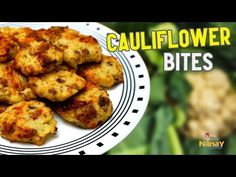 How to Make Baked Cauliflower with Bacon and Cheese Recipe Video Recipes Baking Recipes, Diet Recipes, Healthy Recipes, Cauliflower Bites, Picky Eaters, Cheese Recipes, Tandoori Chicken, Food Videos, Bacon