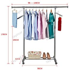 Convenient Clothes Rack Garment Rack Laundry Rack with Shoe Rack Shoe Shelf for Household HHI-264574