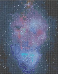 AMAZING galaxy print cross stitch pattern!!! What a work of art!