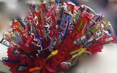 200 candy bar bouquet ordered for one of our customers!  Higdon Florist
