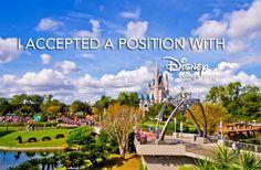 Create Your Own DCP Acceptance Banner: Disney College Program, Acceptance, Photoshop Hacks