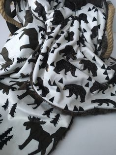 GEO BEAR/MOOSE >> baby boy blanket, baby girl blanket, soft cuddle blanket, minky blanket, stroller blanket, faux fur blanket, playmat by bearcubsco on Etsy https://www.etsy.com/listing/467142846/geo-bearmoose-baby-boy-blanket-baby-girl