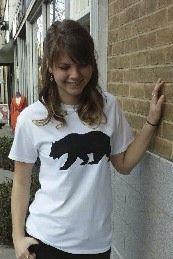 Women's T-shirt white - Short sleeve - spring style fashion @ Black Bear Trading Asheville N.C.