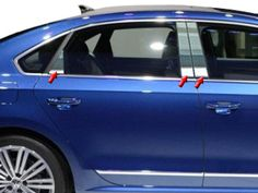PASSAT 2012-2015 VOLKSWAGEN (6 Pieces: Pillar Post Trim Kit) PP12676