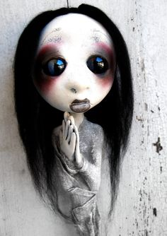 Loopy Goth Art Doll Ooak  Ghost Creepy Christmas by loopyboopy, $100.00
