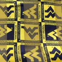West Virginia University Mountaineers NCAA 13 x 60 inch Scarf NEW $9.99 FREE SHIPPING
