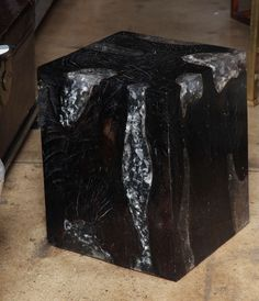 Teak & Resin Cube Table | From a unique collection of antique and modern end tables at https://www.1stdibs.com/furniture/tables/end-tables/