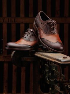 EVERY MAN MUST OWN A GOOD PAIR OF WINGTIPS...CAN BE DRESSED UP OR DOWN