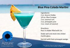 Blue Pina Colada Martini Recipe. @azzurrespirits