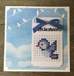Bluebird of Happiness Celtic Cross Stitch, Tiny Cross Stitch, Cross Stitch Cards, Cross Stitch Designs, Cross Stitching, Cross Stitch Embroidery, Cross Stitch Patterns, Paper Embroidery, Embroidery Patterns