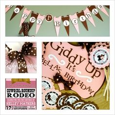 Lil' Cowgirl Complete 1st Birthday Party Pack with Outfit. $245.00, via Etsy.