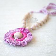 Teething necklace / Nursing necklace / by GerberaHandmade on Etsy