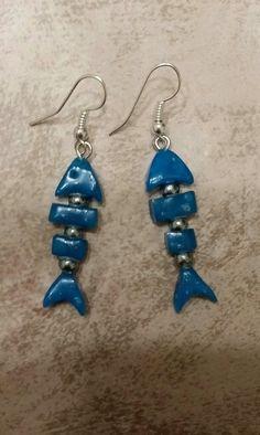 Blue fish fimo...