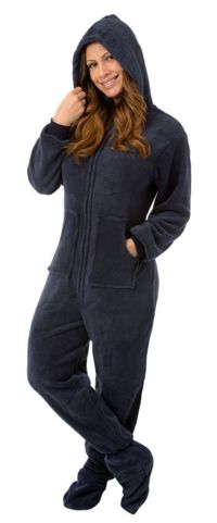 Another great find on Navy Fleece Hooded Dropseat Footed Pajamas - Women by Big Feet Pjs Onesie Pajamas, Fleece Pajamas, Pjs, Comfy Pajamas, Drop Seat Pajamas, Navy Blue Hoodie, Trends, Overall, Pajamas Women