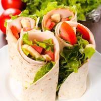 Ham, Lettuce and Tomato Wraps #healthy #recipe