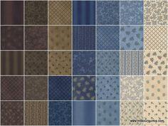 Union Blues Fat Quarter Bundle - Barbara Brackman - Moda Fabrics