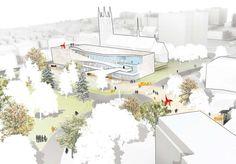 "Behnisch architekten for the architecture competition ""Designing a Museum Addition: no  easy task in Quebec"""