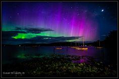 Tinderbox_Tas_9_11 Aurora Australis from Tasmania