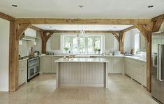 Sussex Manor - Border Oak - oak framed houses, oak framed garages and structures. Barn Kitchen, Farmhouse Style Kitchen, Country Kitchen, Kitchen Decor, Kitchen Island, Cottage Kitchens, Home Kitchens, Küchen Design, House Design