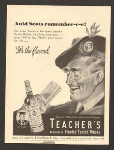 1944, Teachers Scotch Whisky Print Ad