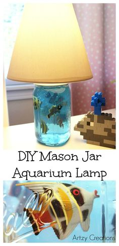 My kids have been wanting another fish lately. So, instead of going the live fish route. I decided to create a faux fish aquarium out of a mason jar and also made it a working lamp. This DIY lamp is so simple to create. You can make a couple of lamps in no time, and …