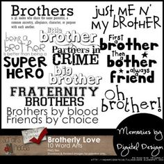 Brotherly Love Word Art - PU/S4H/S4O [MbDD_BLwa] - $3.49 : Scraps N Pieces Store