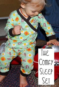 "Toddler Sizes of the ""Comfy Sleep Set"" pajamas  free pattern download"