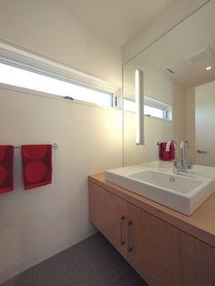 Bathroom Maple Vanity Design, Pictures, Remodel, Decor and Ideas - page 3 Small Bathroom Window, Bathroom Windows, Modern Bathroom, Transom Windows, Windows And Doors, Window Above Door, Gloucester House, Vanity Design, Wet Rooms