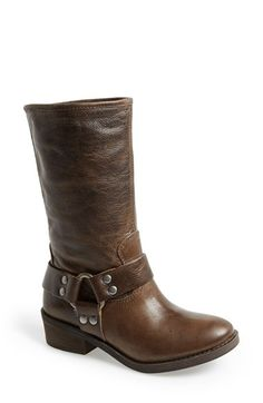 Free shipping and returns on Lucky Brand 'Rolanda' Leather Harness Boot (Women) at Nordstrom.com. Stud-embellished harness straps provide a rugged finishing touch for a mid-calf boot cast in richly textured leather.