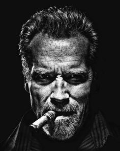 Arnold Schwarzenegger Portrait - Cinema print on canvas, print on wood, print on steel or print on paper Foto Portrait, Portrait Studio, Black And White People, Black And White Face, Male Magazine, Celebrity Portraits, Famous Portraits, Black And White Portraits, Hollywood Actor