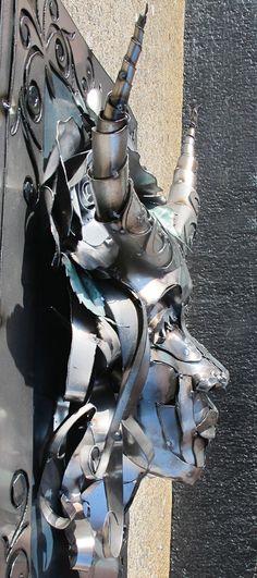 Metal art Sculpture, profile created by Joel Sullivan, of Iron Designs, Nova Scotia