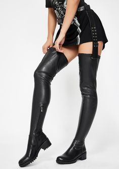 Belt Thigh High Boots, Thigh High Heels, High Heel Boots, Heeled Boots, Stiletto Boots, Platform Boots, Ankle Boots, High Socks, Girly Outfits